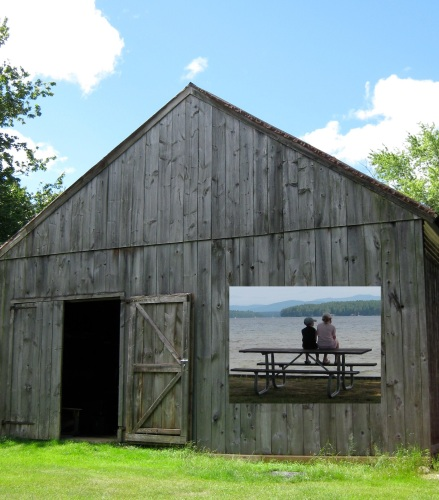 1840 Barn and grandkids