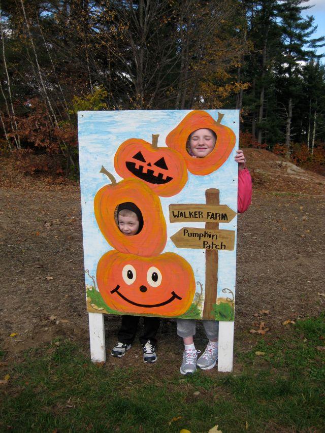 Grandkid pumpkins