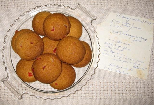 Cherry Drop Cookies