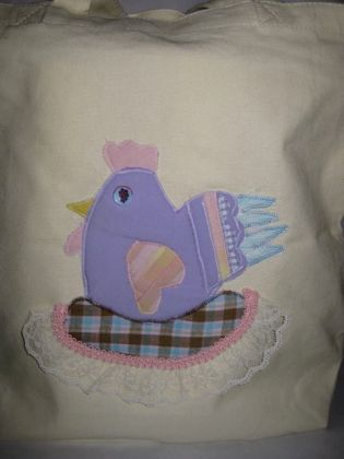 Funky chicken tote bag