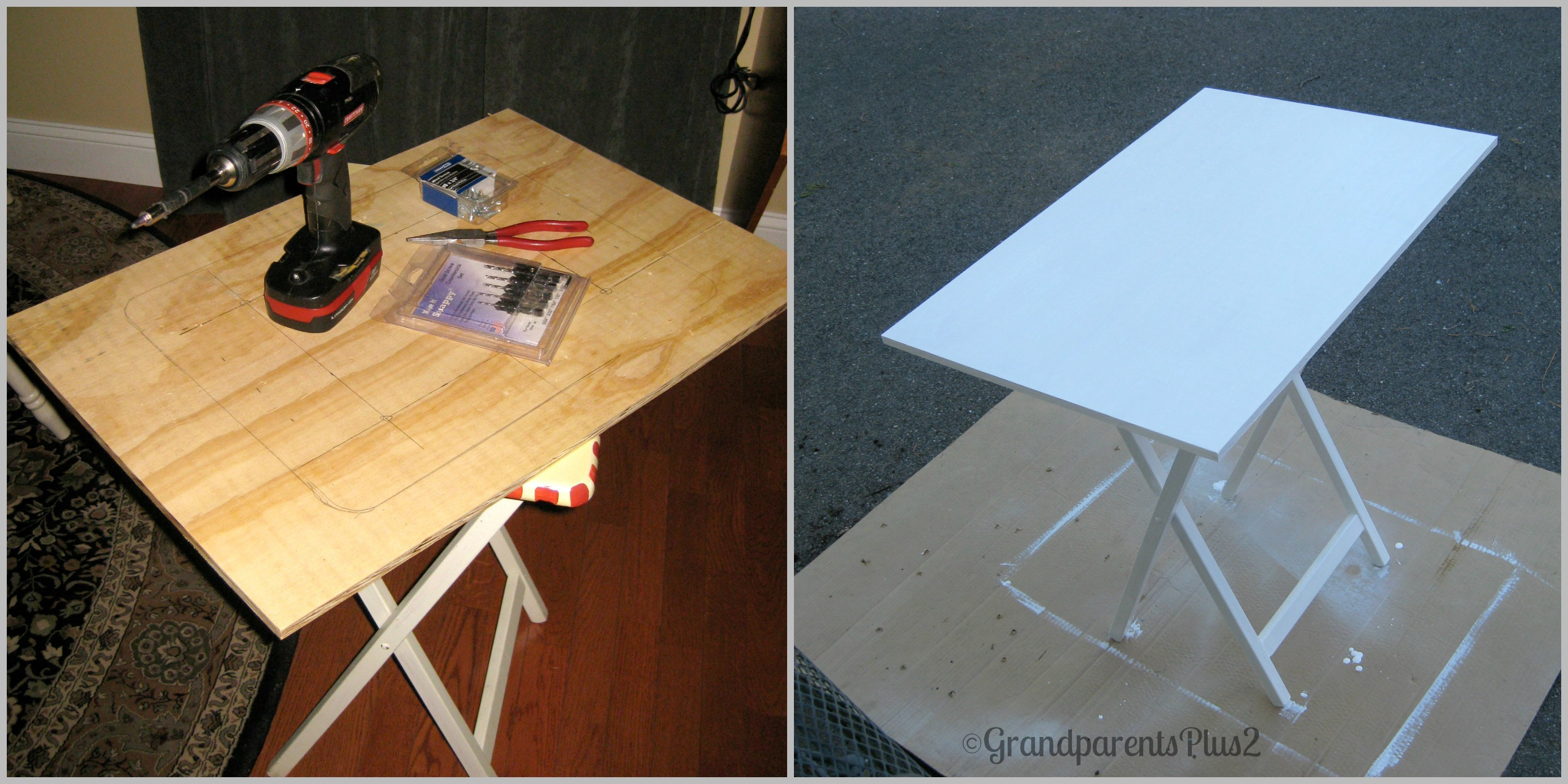 Fold up ironing board - It Now Makes A Nice Ironing Board And Embroidery Work Surface