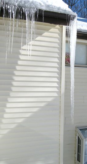 "66"" Icicle outside family room."