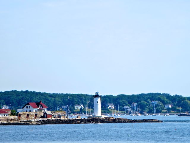 Portsmouth Harbor Lighthouse, Fort Constitution, New Castle, New Hampshire  established 1771 prior to the American Revolution.