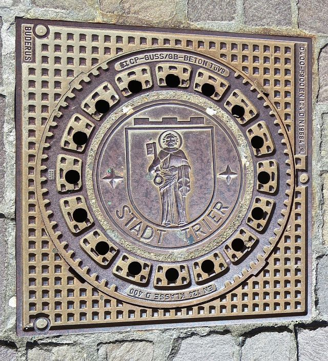 Trier, Germany, manhole cover
