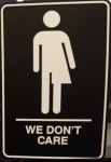 Signage for restroom at 21c Museum Hotel in Durham, N.C. (Photo: Gerry Broome, AP)
