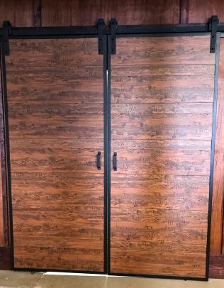 Newer barn door hardware