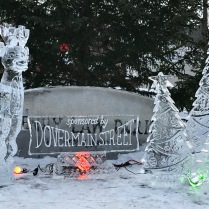 Rudolph Ice Sculpture